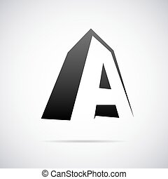 Vector logo for letter A - Logo for letter A design template...