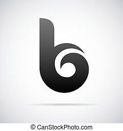 Vector logo for letter B