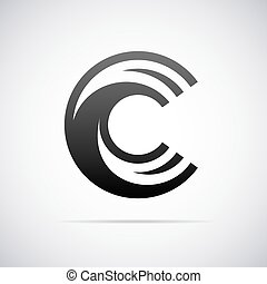 Vector logo for letter C