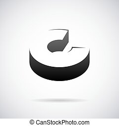 Vector logo for letter C. Design template
