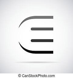 Black and white letter e design template vector illustration vector logo for letter e design template spiritdancerdesigns Images