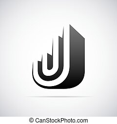 Vector logo for letter J. Design template - Logo for letter...