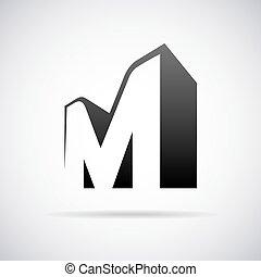 Vector logo for letter M. Design template - Logo for letter...