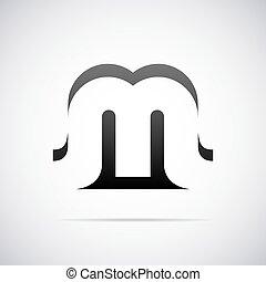 Vector logo for letter M
