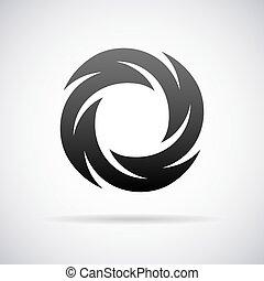 Vector logo for letter O. Design template