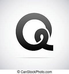 Vector logo for letter Q - Logo for letter Q design template...