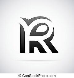 vector logo for letter r