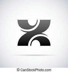 Vector logo for letter X