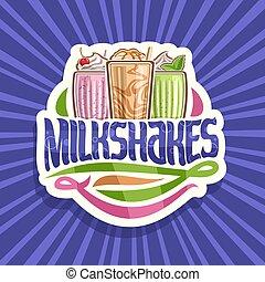 Vector logo for Milkshakes