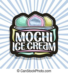 Vector logo for Mochi Ice Cream