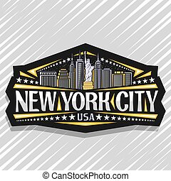 Vector logo for New York City