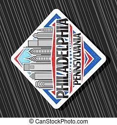 Vector logo for Philadelphia