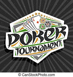 Vector logo for Poker Tournament