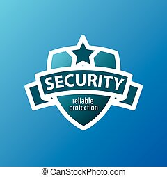 vector logo for security services in the form of shield