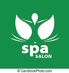 vector logo for Spa salon on a green background