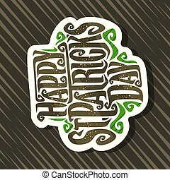 Vector logo for St. Patrick's Day