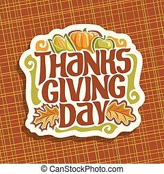 Vector logo for Thanksgiving day