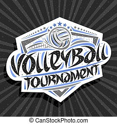Vector logo for Volleyball Tournament