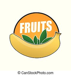 logo fruit, natural product and healthy food