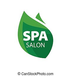 vector logo green leaf for Spa Salon