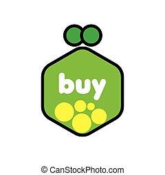 vector logo green purse with coins