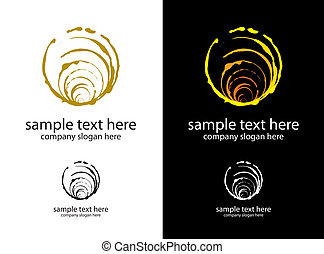 vector logo handmade circles brush