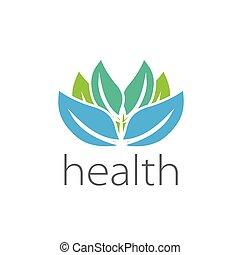 Template design logo health. Vector illustration of icon