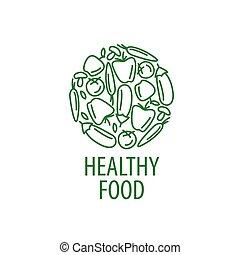 vector logo healthy eating - Logo pattern of healthy eating....