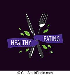 vector logo healthy eating - healthy food logo design...