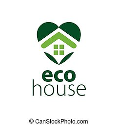 vector logo house