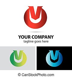 Vector logo illustration of letter