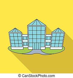 vector, logo., ilustración, colección, icono, stock., tienda, pueblo, venta al por menor