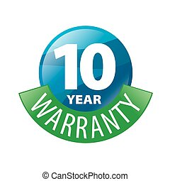 vector logo in the shape of a circle 10-year warranty