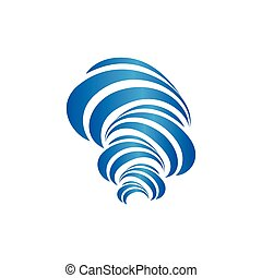 Vector logo. Isolated icon. Hurricane logo. Tornado icon. Nature disaster logo. Circular Shape. Wind illustration. Vortex spinning swirl. Water icon.Modern logo. Blue colour paint.Brush strokes logo.