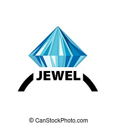 vector logo jewel - pattern design logo jewel. Vector...