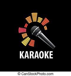 vector logo karaoke - template design logo karaoke. Vector...
