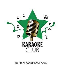 vector logo karaoke - logo design template for karaoke....