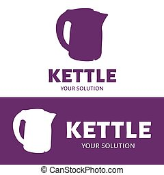 Vector logo kettle. Brand's logo in the form of a kettle