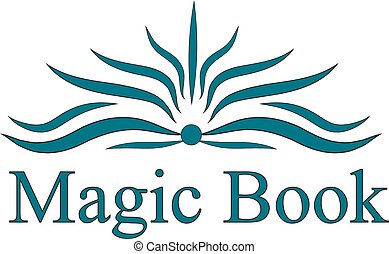 vector logo magic book