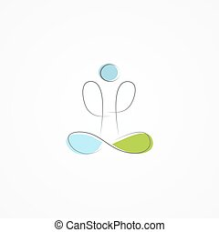 Vector logo man in yoga pose