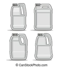 Vector logo monochrome canisters