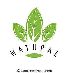 vector logo natural green leaves