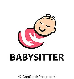 Vector logo of babysitter, child care and nursery - Vector ...