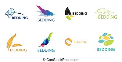 Vector logo of bed linen and bedding