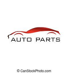 Vector logo of car parts, auto repair