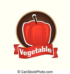 vector logo of vegetables and natural product