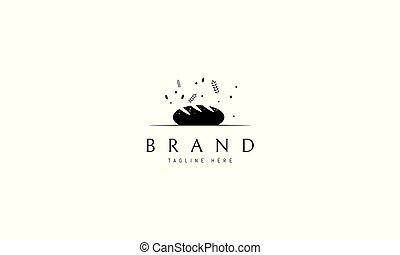 Vector logo on which an abstract image of bread.