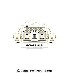 vector, logo, ontwerp, mal