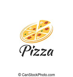 Vector Logo pizza on a white background.