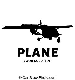 Vector logo plane. Brand logo in the shape of an airplane.